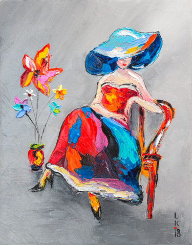 Lady with flower