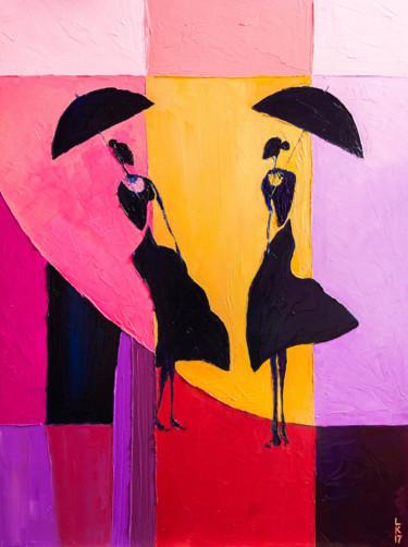 Ladies under umbrellas