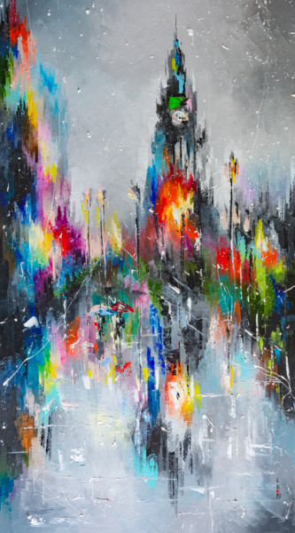 "LONDON'S RAIN (FRAMED 38""X22"")"
