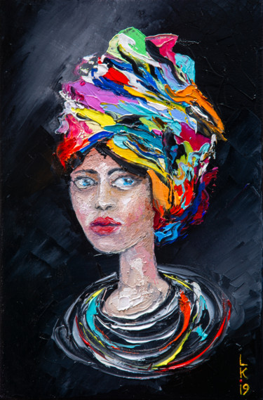 Portrait of a girl in a turban