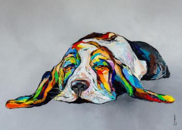 Dreaming basset hound